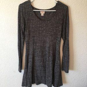 Grey sweater dress